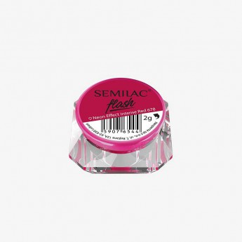 Втирка Semilac Flash Neon Effect Intense Red 678
